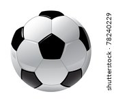 foot ball isolated on the white | Shutterstock .eps vector #78240229