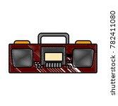 radio stereo vintage | Shutterstock .eps vector #782411080