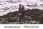 beautiful couple being in love  ... | Shutterstock . vector #782412310