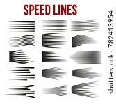 speed lines black for manga and ... | Shutterstock .eps vector #782413954
