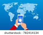 internet global internet... | Shutterstock .eps vector #782414134
