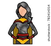 woman superhero cartoon | Shutterstock .eps vector #782414314