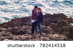beautiful couple being in love  ... | Shutterstock . vector #782414518