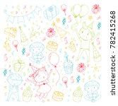 birthday party kindergarten...   Shutterstock .eps vector #782415268