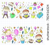 birthday party kindergarten... | Shutterstock .eps vector #782416324