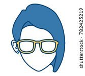 woman face with sunglasses | Shutterstock .eps vector #782425219