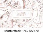 vector marble rose gold...   Shutterstock .eps vector #782429470