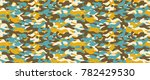 camouflage background. seamless ... | Shutterstock .eps vector #782429530