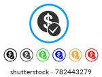 valid dollar coin rounded icon. ...