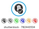 valid bitcoin rounded icon.... | Shutterstock .eps vector #782443534
