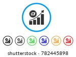 dash growing chart rounded icon.... | Shutterstock .eps vector #782445898