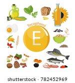 """vitamin e or tocopherol."" food ... | Shutterstock .eps vector #782452969"