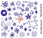 funny doodle stars and comets... | Shutterstock . vector #782456443