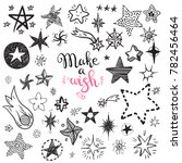 funny doodle stars and comets... | Shutterstock . vector #782456464