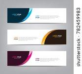 banner background. modern... | Shutterstock .eps vector #782459983