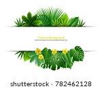 spring or summer season leaves... | Shutterstock .eps vector #782462128