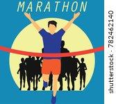running race people   marathon  ... | Shutterstock .eps vector #782462140