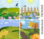 seasonal landscape park and the ... | Shutterstock .eps vector #78246265