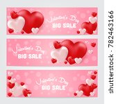 valentines day sale background  ... | Shutterstock .eps vector #782463166