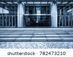 empty pavement front of the... | Shutterstock . vector #782473210