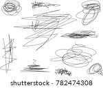 vector light set of hand drawn... | Shutterstock .eps vector #782474308