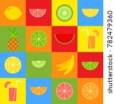 set of colored isolated... | Shutterstock .eps vector #782479360