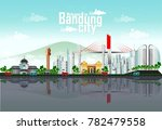 bandung cityscape for background