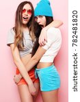 lifestyle  people  teens and... | Shutterstock . vector #782481820
