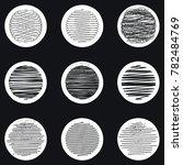 set of vector elements. circles.... | Shutterstock .eps vector #782484769
