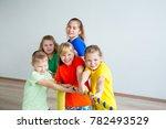 kids doing exercises | Shutterstock . vector #782493529