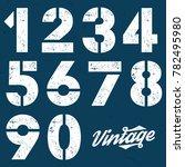 Vintage Stencil Plate Numbers   ...