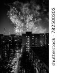 fireworks in the city next to...   Shutterstock . vector #782500303