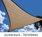 shade sail against nice sky     ... | Shutterstock . vector #782500660