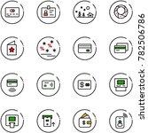 line vector icon set   credit... | Shutterstock .eps vector #782506786
