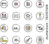 line vector icon set   barrier... | Shutterstock .eps vector #782507608