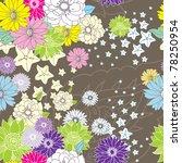 floral seamless pattern   Shutterstock .eps vector #78250954