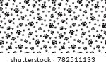 dog paw cat paw seamless... | Shutterstock .eps vector #782511133