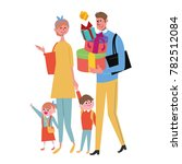 family illustration with father ... | Shutterstock .eps vector #782512084