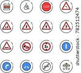 line vector icon set   sign... | Shutterstock .eps vector #782512474