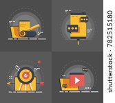 set concepts of seo... | Shutterstock .eps vector #782515180