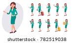 cartoon character design female ... | Shutterstock .eps vector #782519038