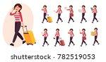 cartoon character design female ...   Shutterstock .eps vector #782519053