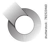 circle logo with lines. black... | Shutterstock .eps vector #782523460