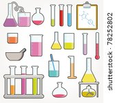 chemical test tubes icons... | Shutterstock .eps vector #78252802