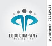 pp letter logo concept.... | Shutterstock .eps vector #782529196