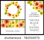 invitation with floral... | Shutterstock .eps vector #782533573