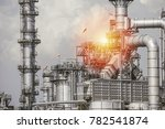industrial zone the equipment... | Shutterstock . vector #782541874