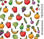 vegetables and fruits fresh... | Shutterstock .eps vector #782542213