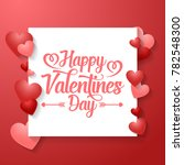 valentine's day background with ... | Shutterstock .eps vector #782548300