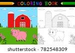 cartoon pig coloring book | Shutterstock .eps vector #782548309